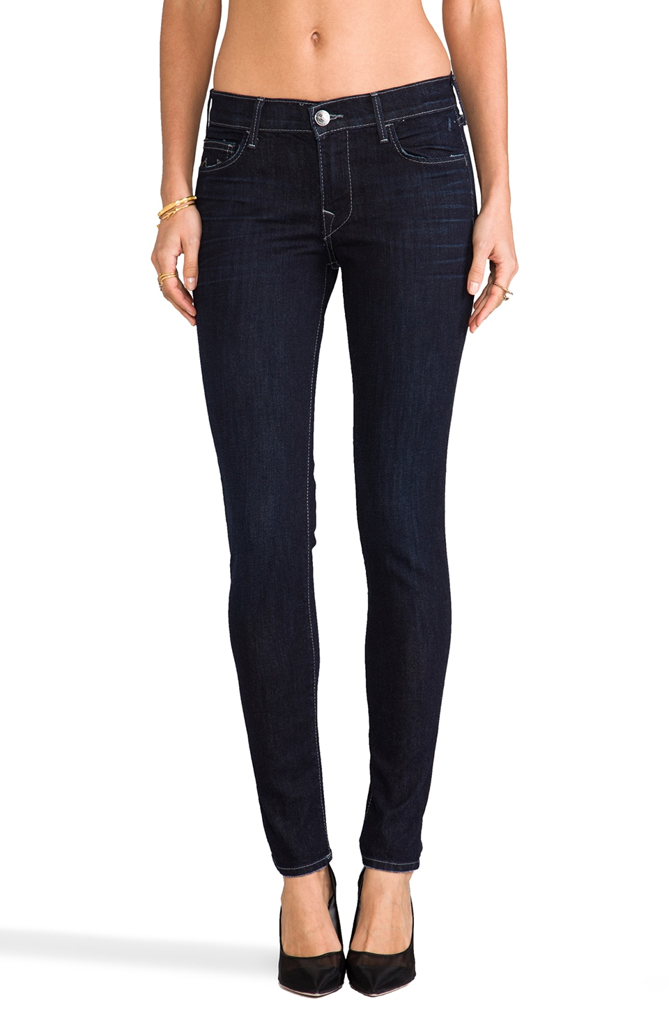 True Religion Abbey High Rise Skinny in Baltic Ink