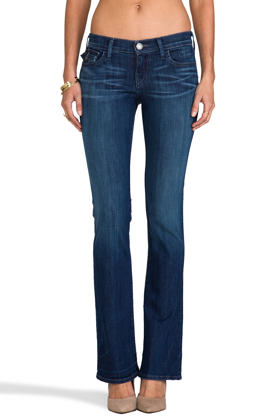 True Religion Becky Mid Rise Bootcut in Midnight Fog