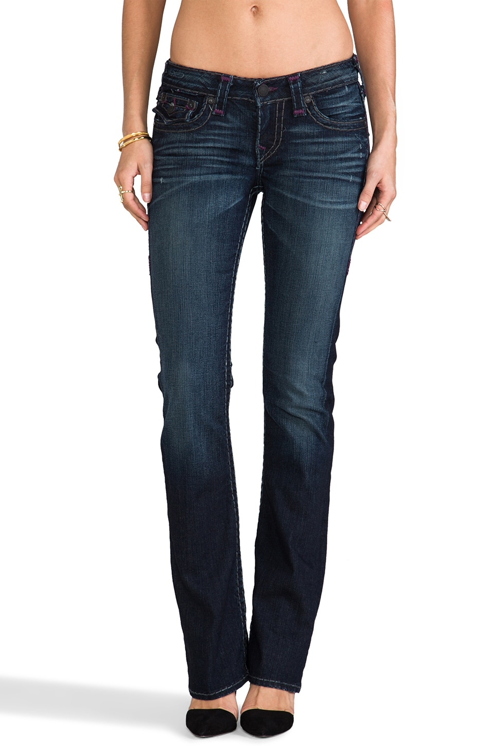 True Religion Becky Super T Mid Rise Bootcut in Slow Water