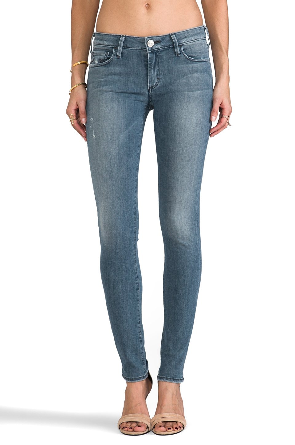 True Religion Jude Super Low Rise Skinny in Blue Roots