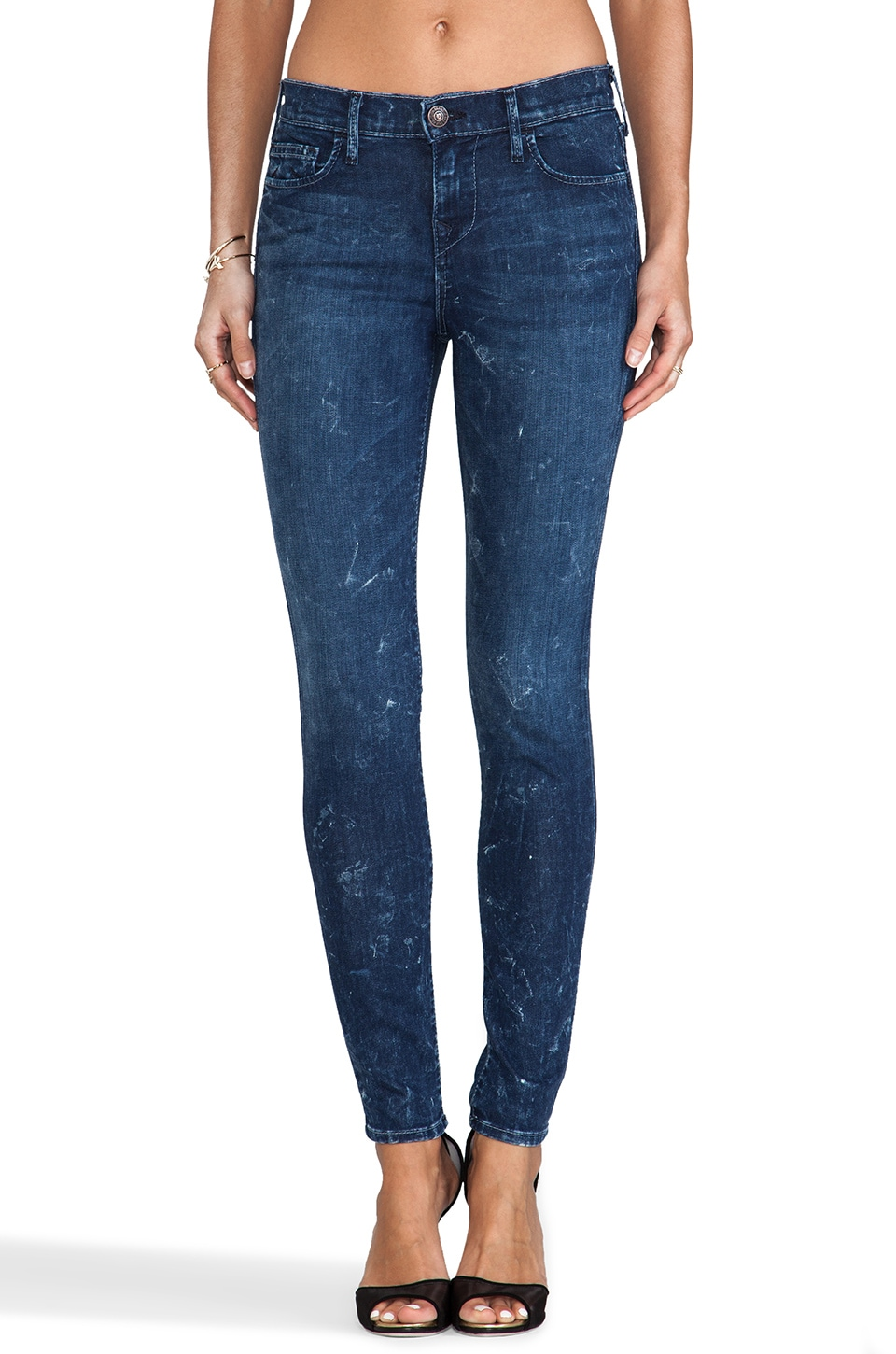 True Religion Abbey Mid Rise Super Skinny in Sparkling Ice