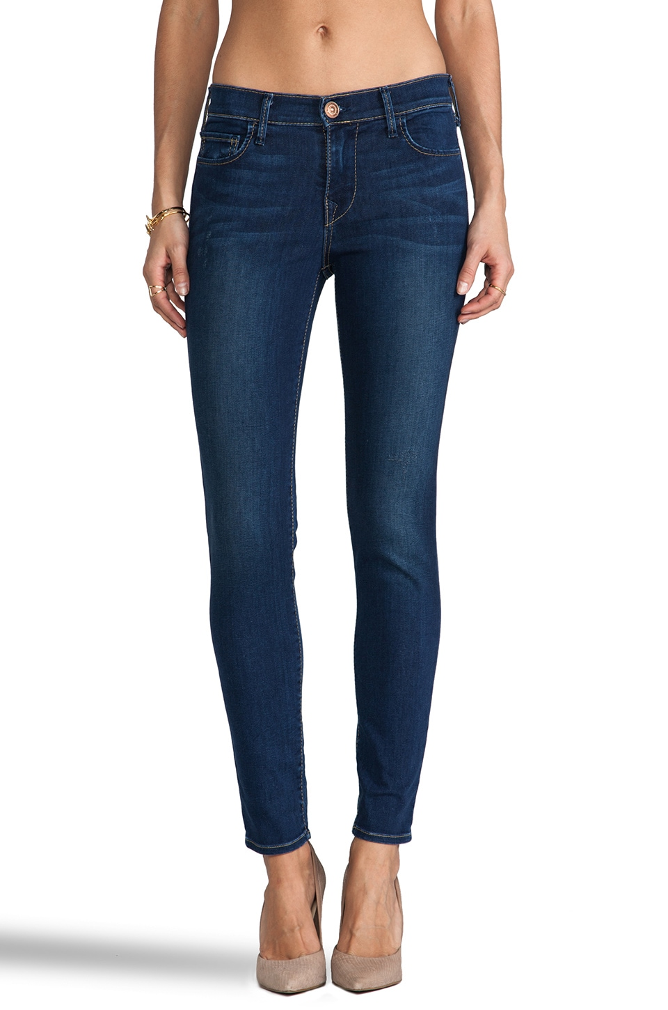 True Religion Abbey Mid Rise Super Skinny in Tinted Dreams