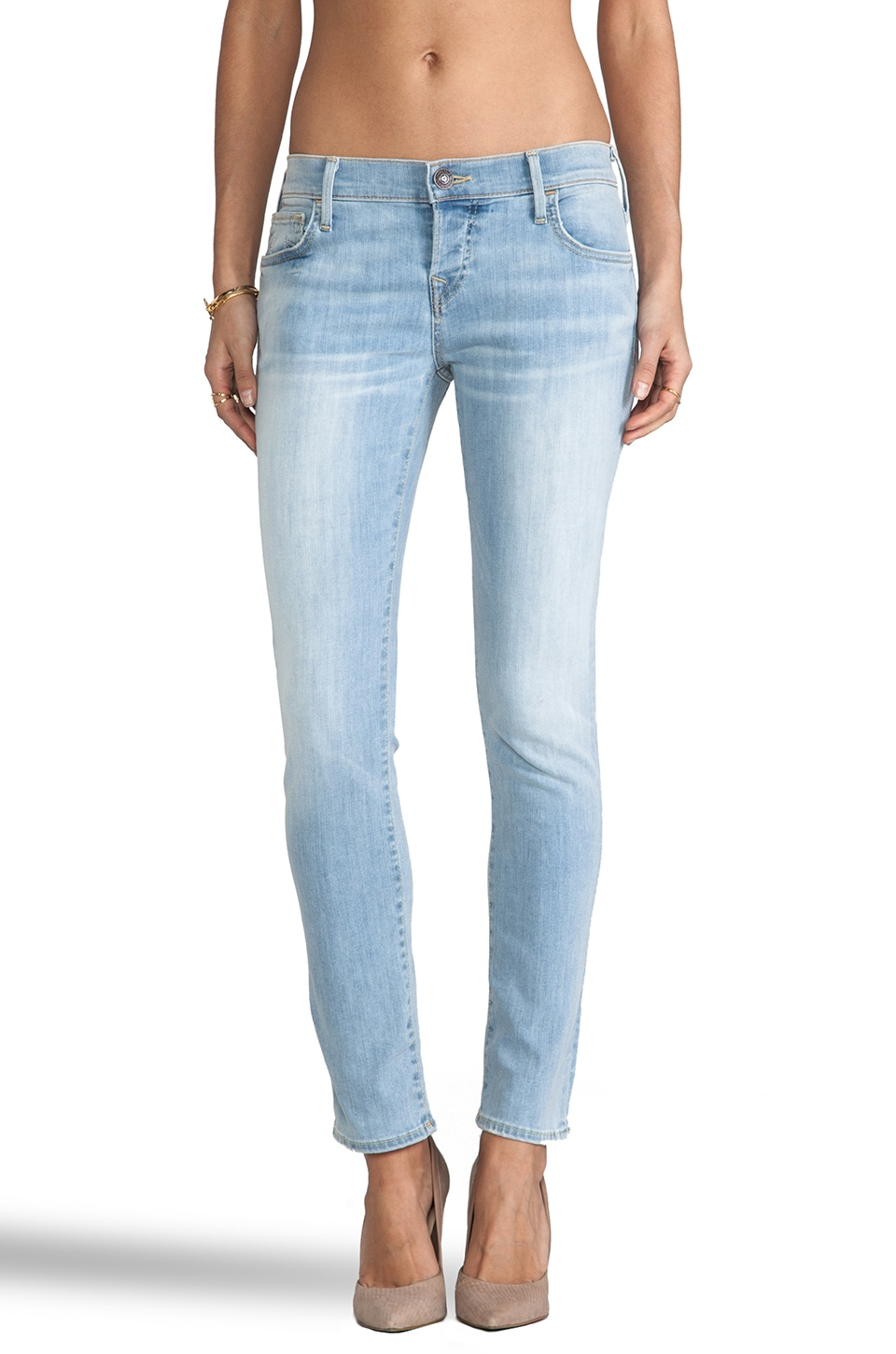 True Religion Leona Low Rise Capri in Breezy Meadow