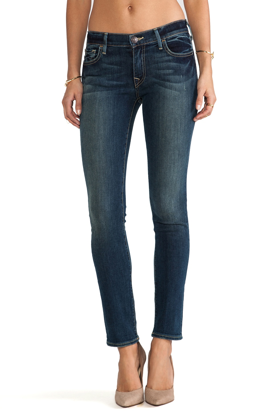 True Religion Halle Mid Rise Skinny in Evening Shadow