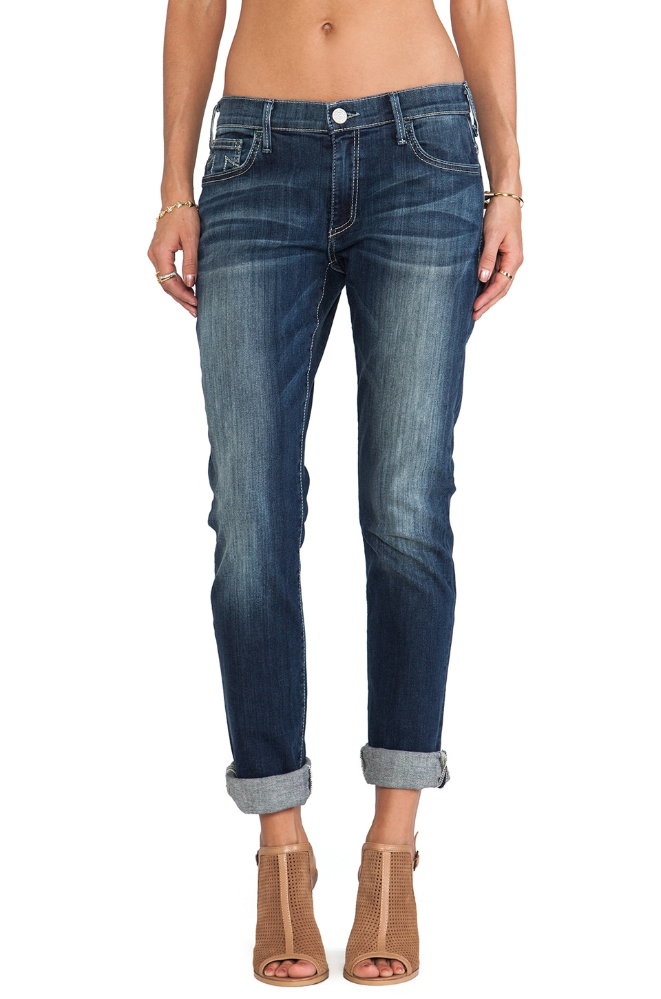 True Religion Audrey Slim in Shasta Rock Clean