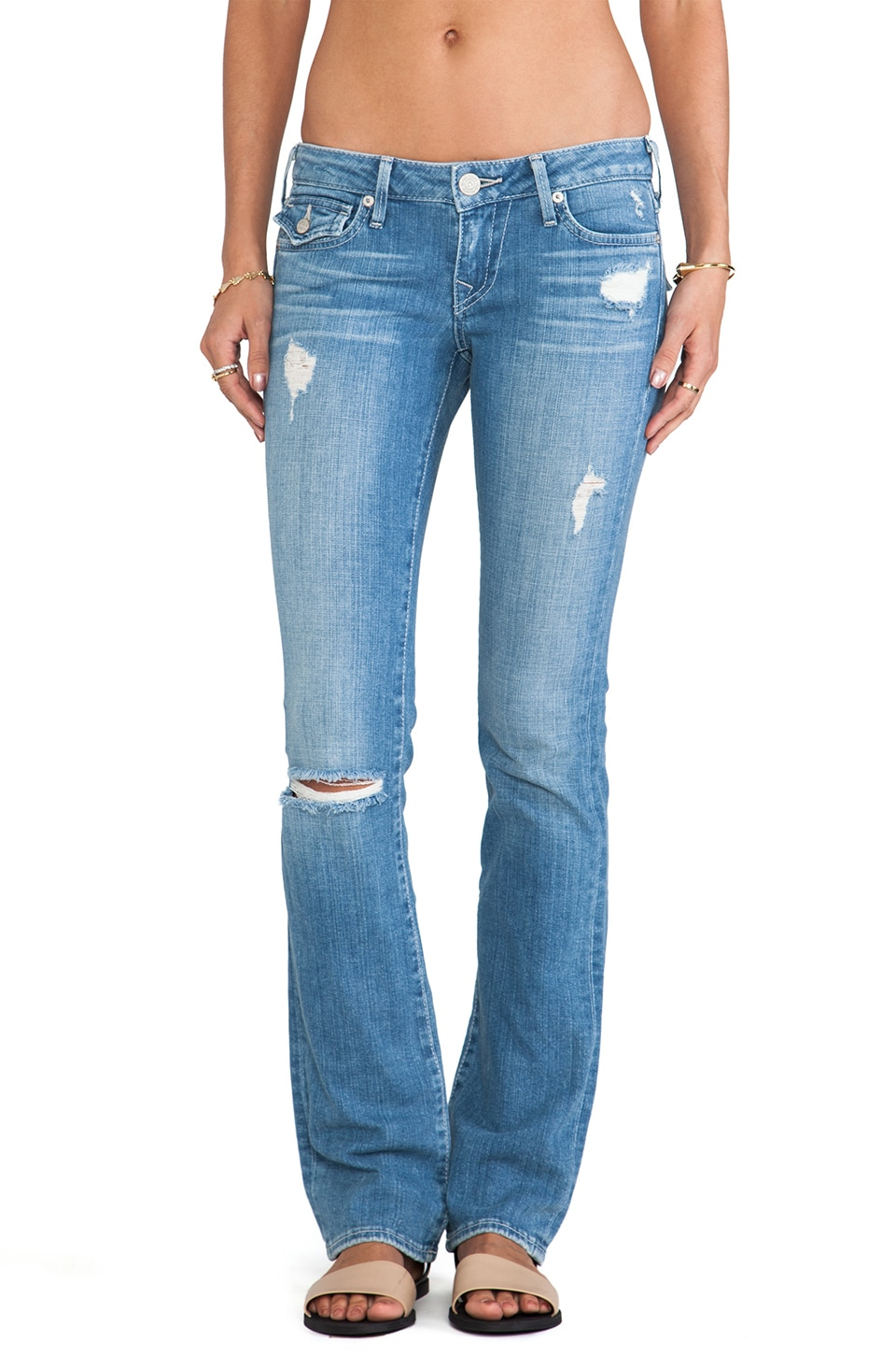 True Religion Billy Low Rise Straight in White Gardenia