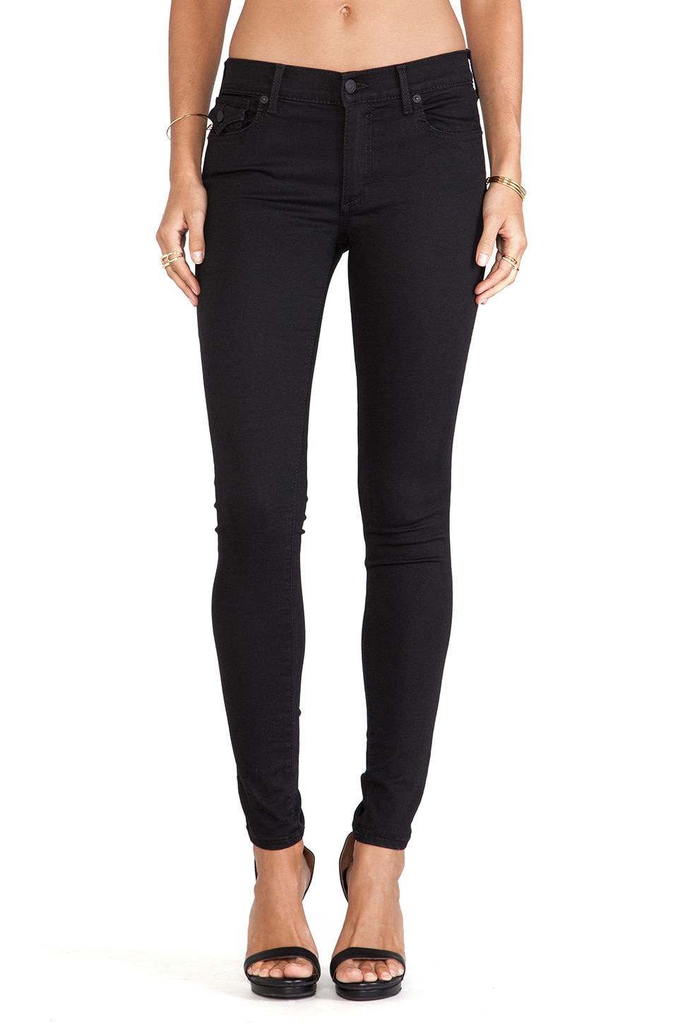 True Religion Halle Skinny with Flaps in Rebel Voices