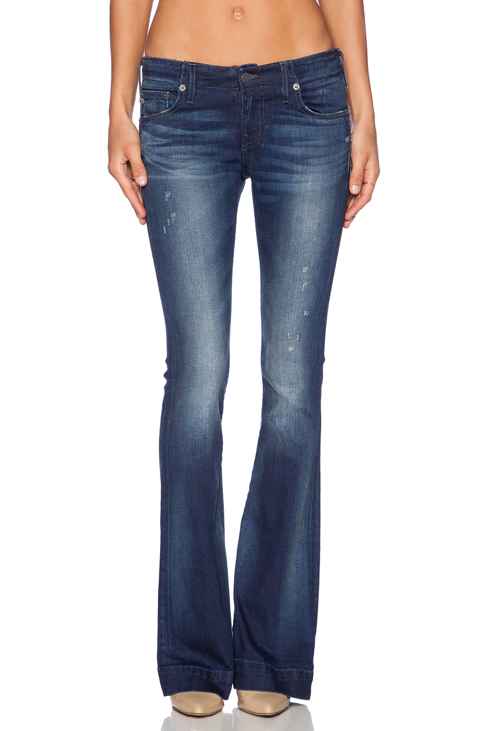 True Religion Charlize Flare in Inky Sea