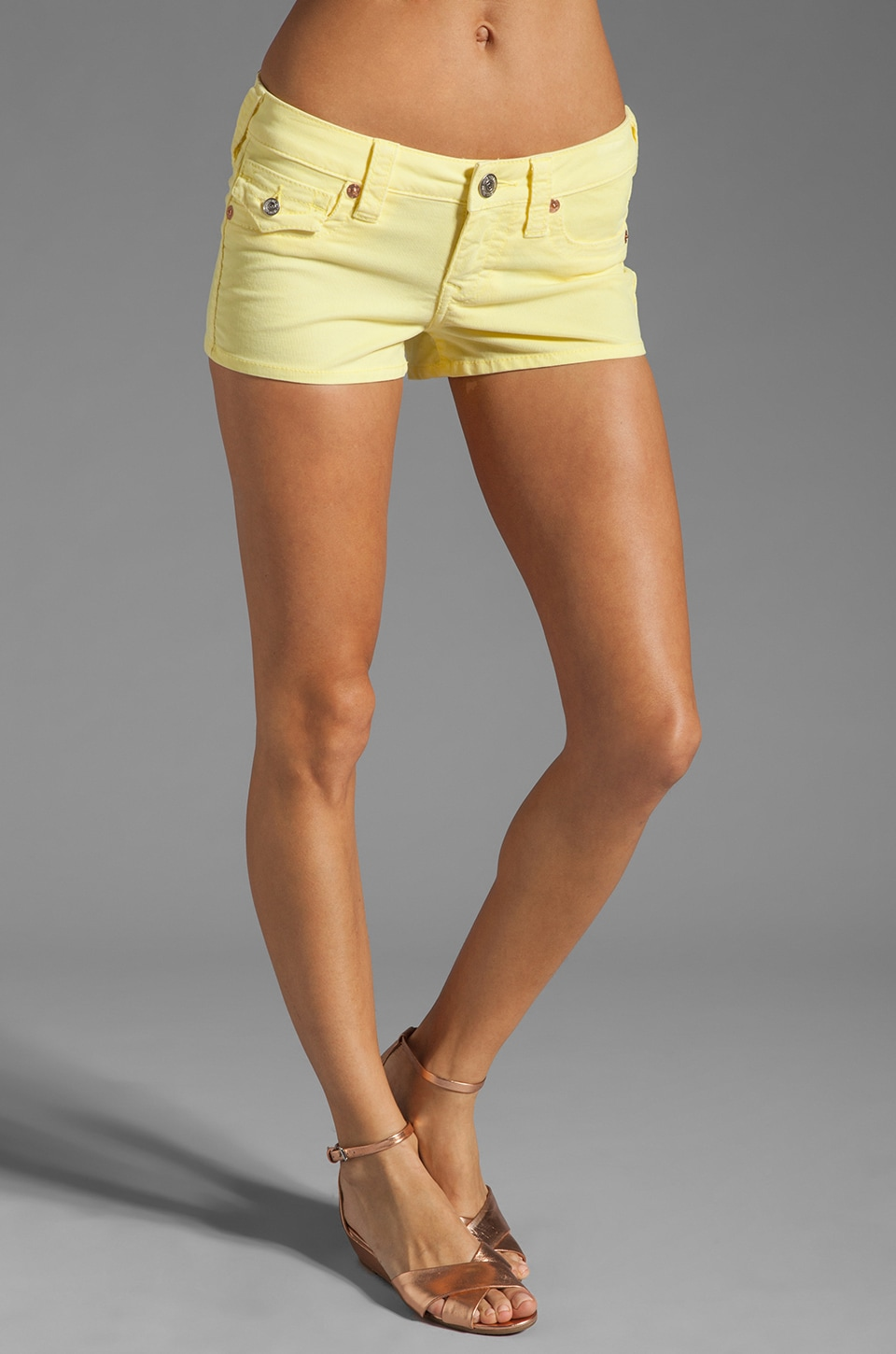 True Religion Joey Short in Daffodil