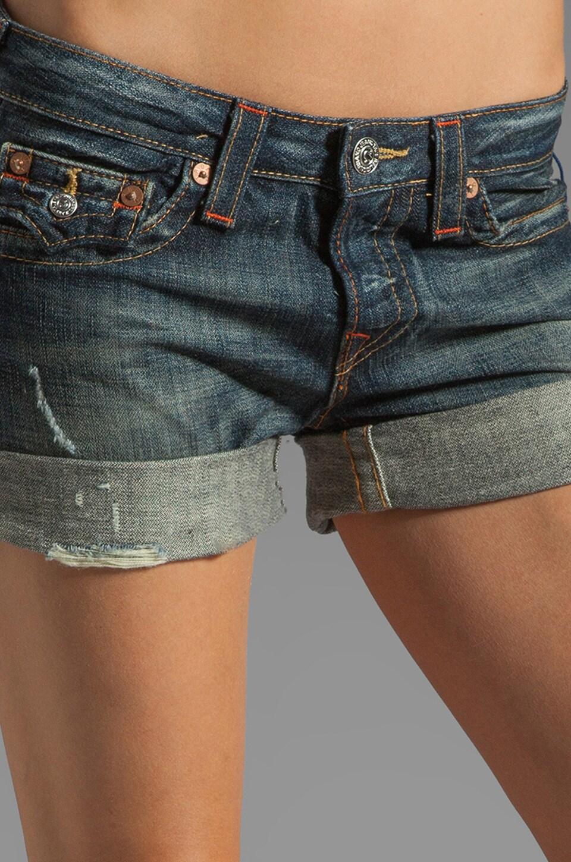 True Religion Jayde Boyfriend Shorts in Granite