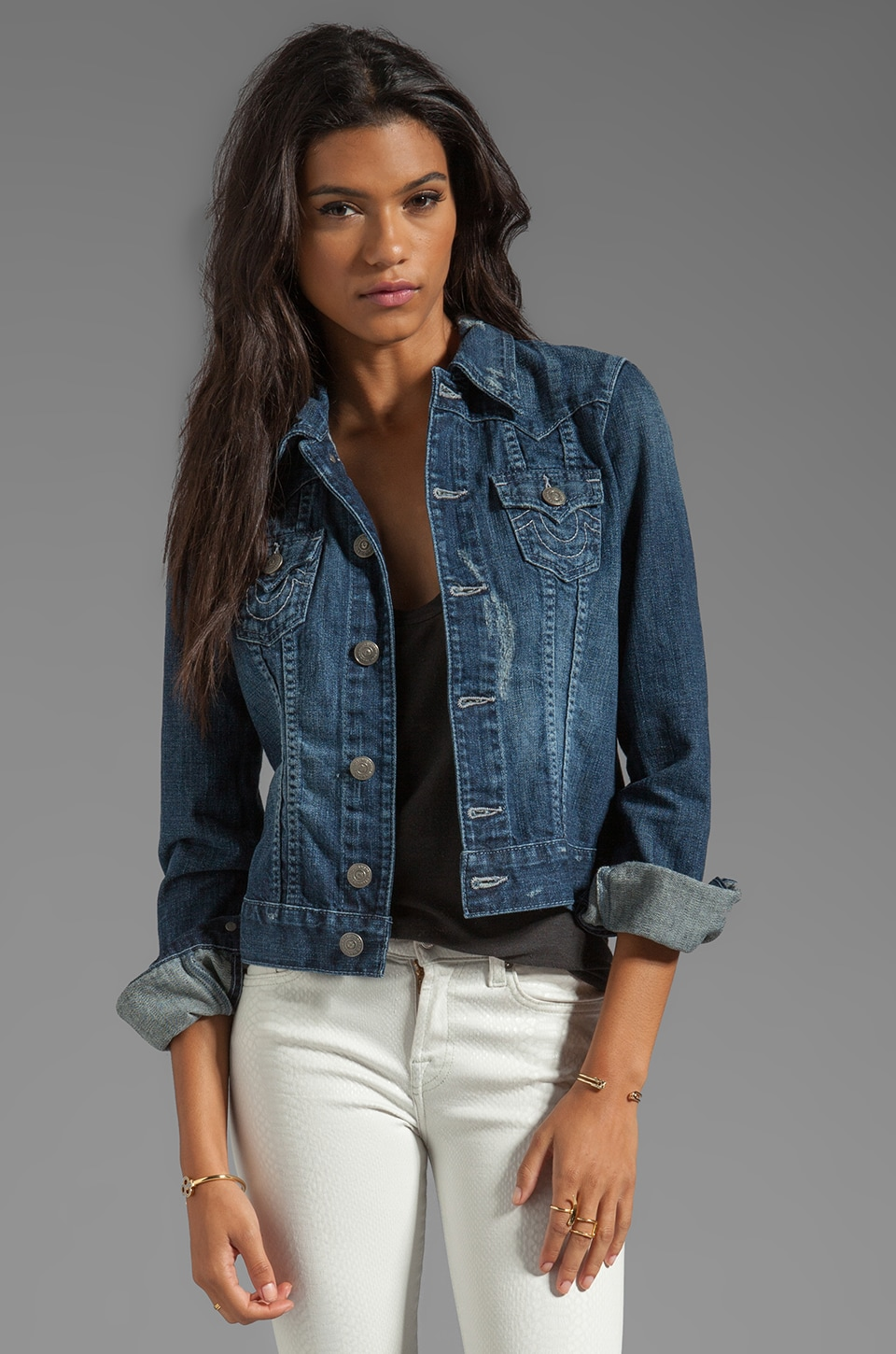 True Religion Jimmy Jacket in Peaceful Waters