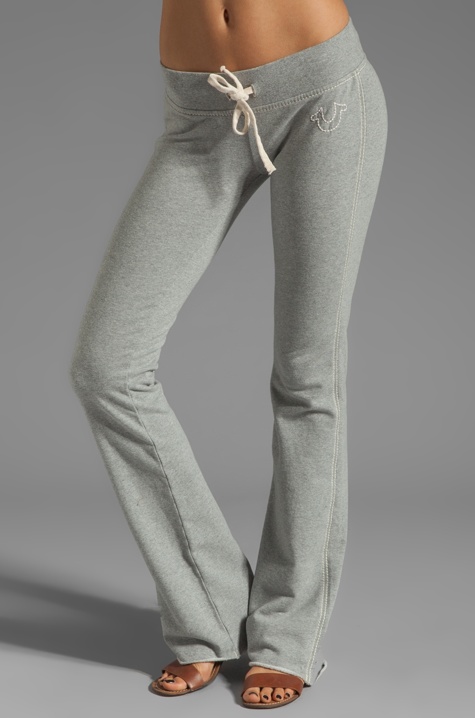 True Religion Marissa Pant in Heather Grey