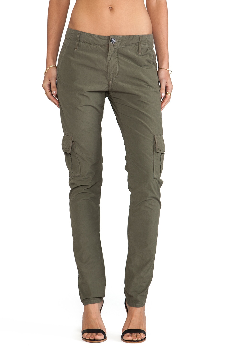 True Religion Celina Cargo in Dusty Olive