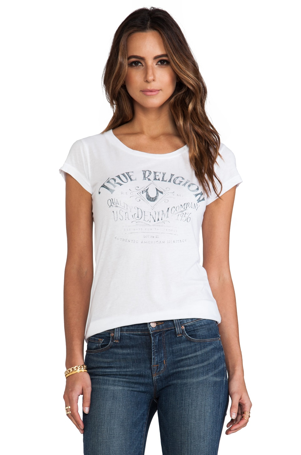 True Religion Direction Tee in White