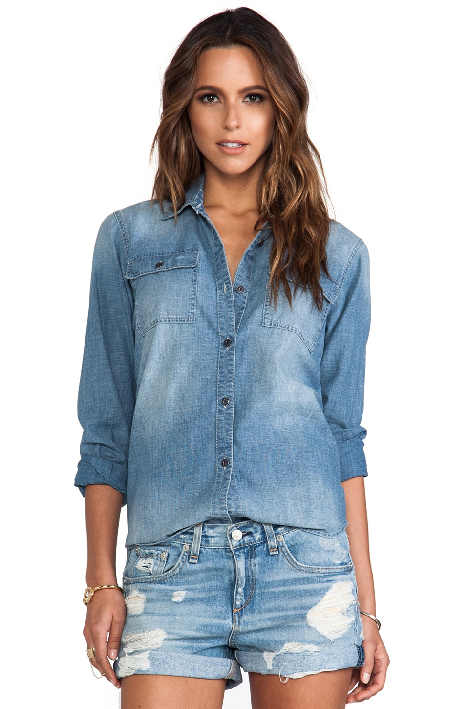 True Religion Utility Shirt in Chambray