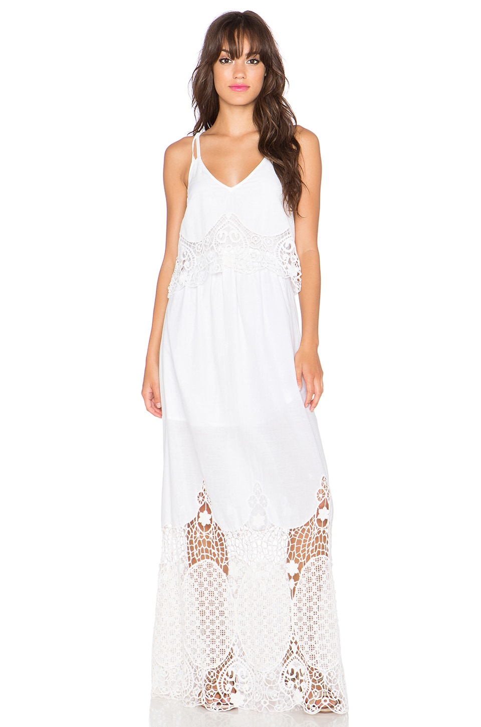 TRYB212 Heather Maxi Dress in White