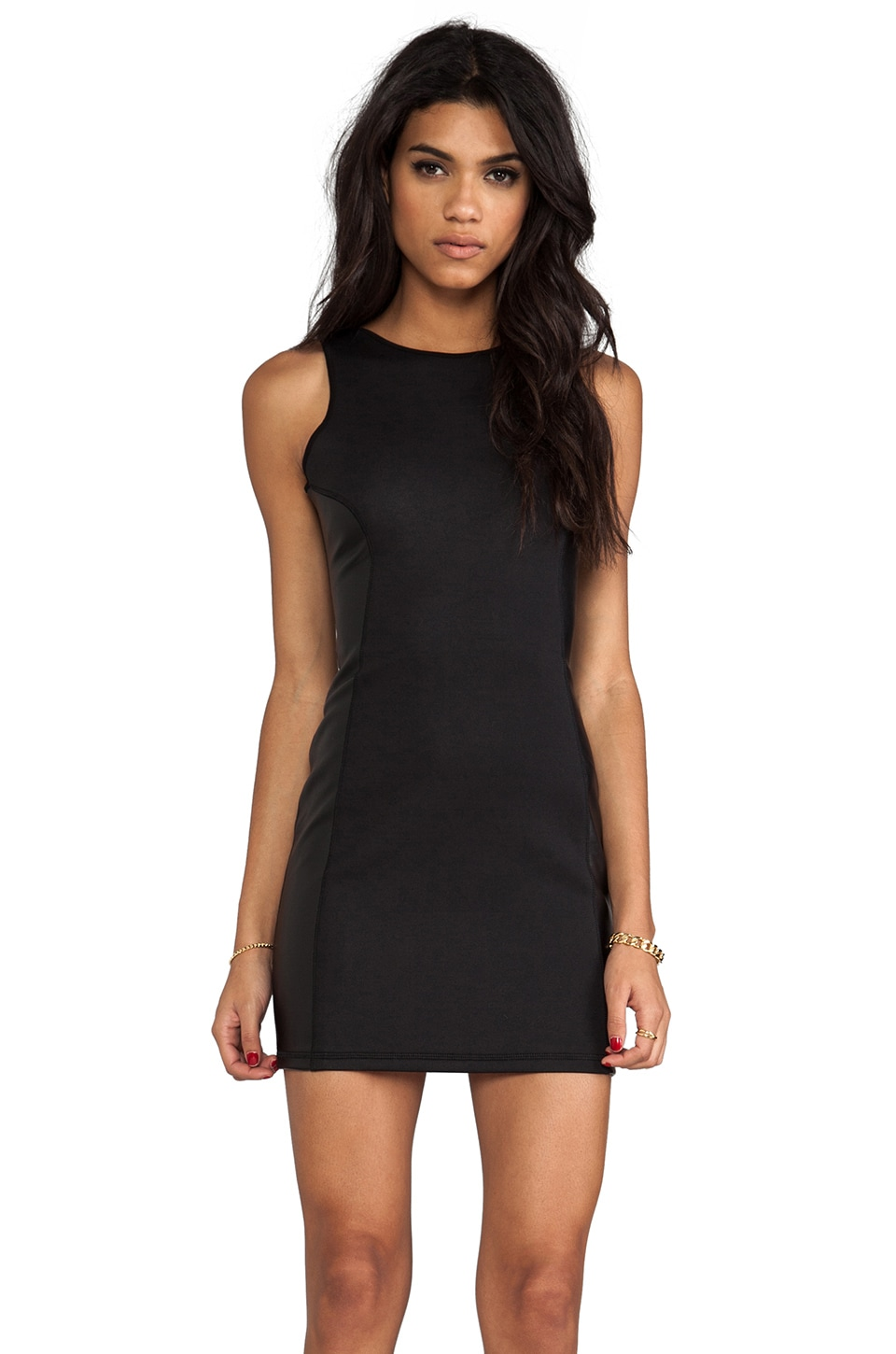 This is a Love Song Eye of the Tiger Dress in Black/Black