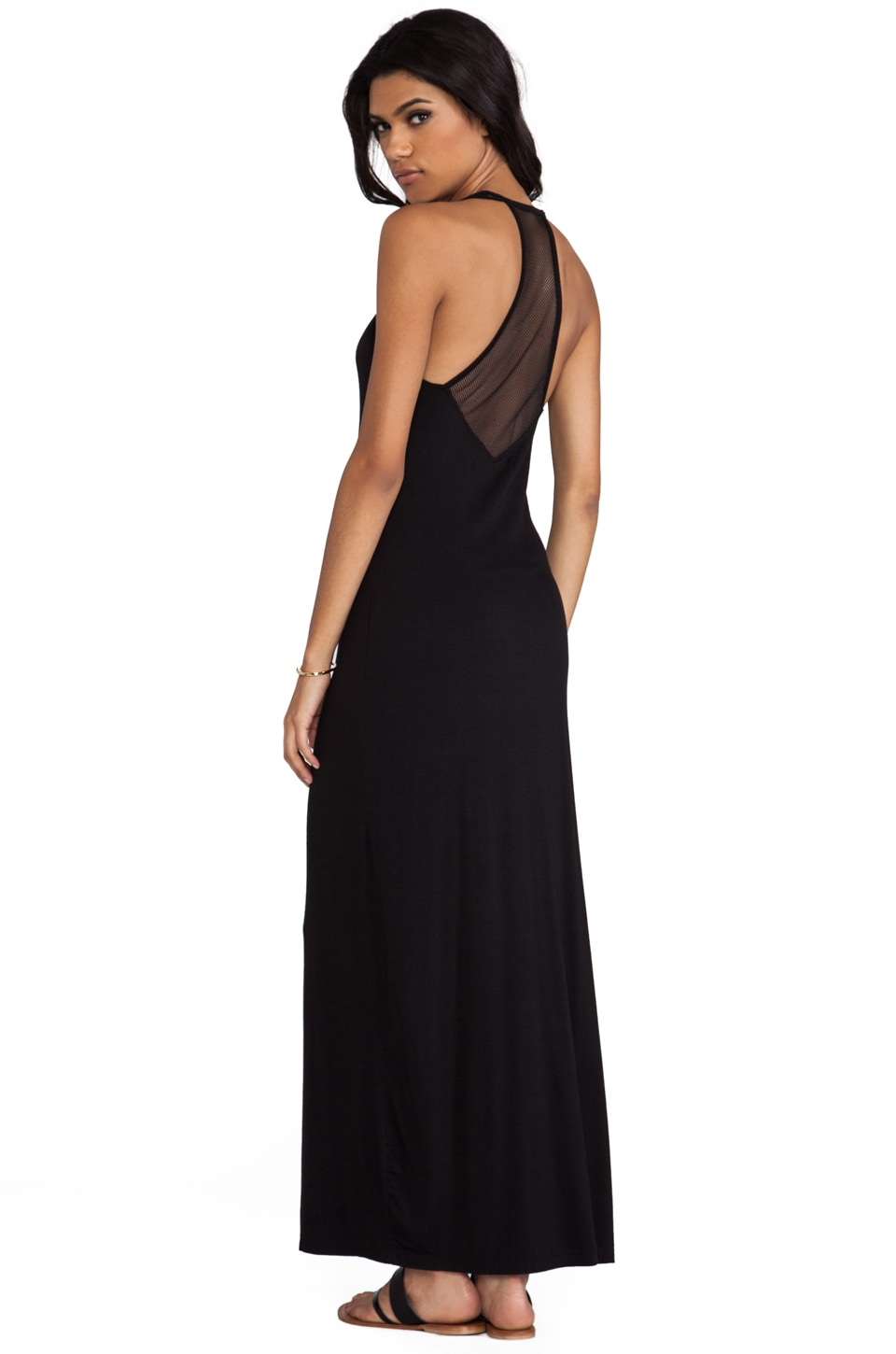 This is a Love Song Acrobat Maxi Dress in Black