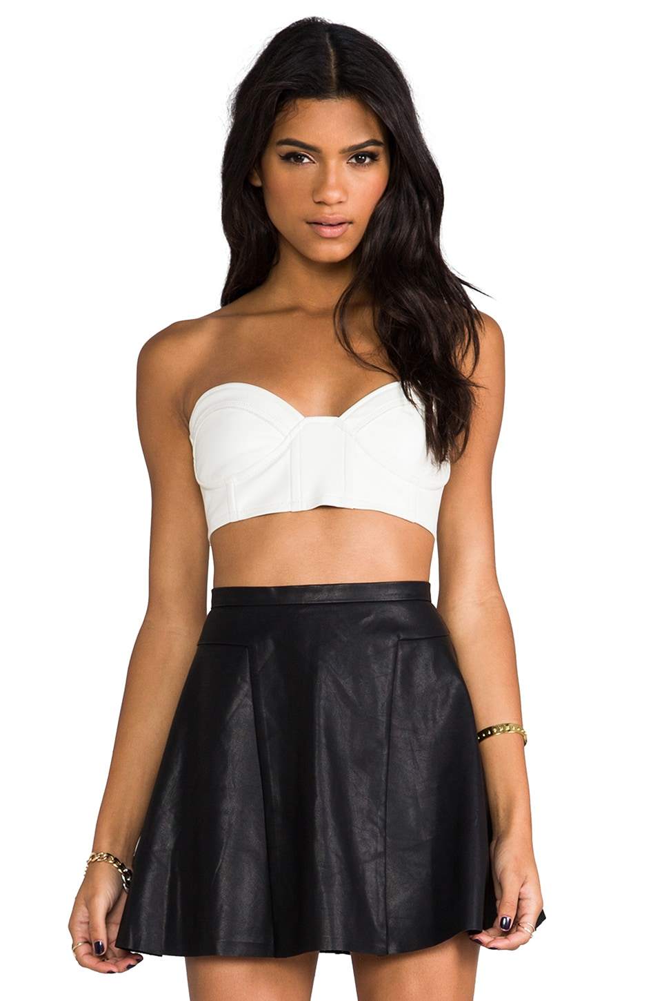 This is a Love Song Loaded Crop Top in White
