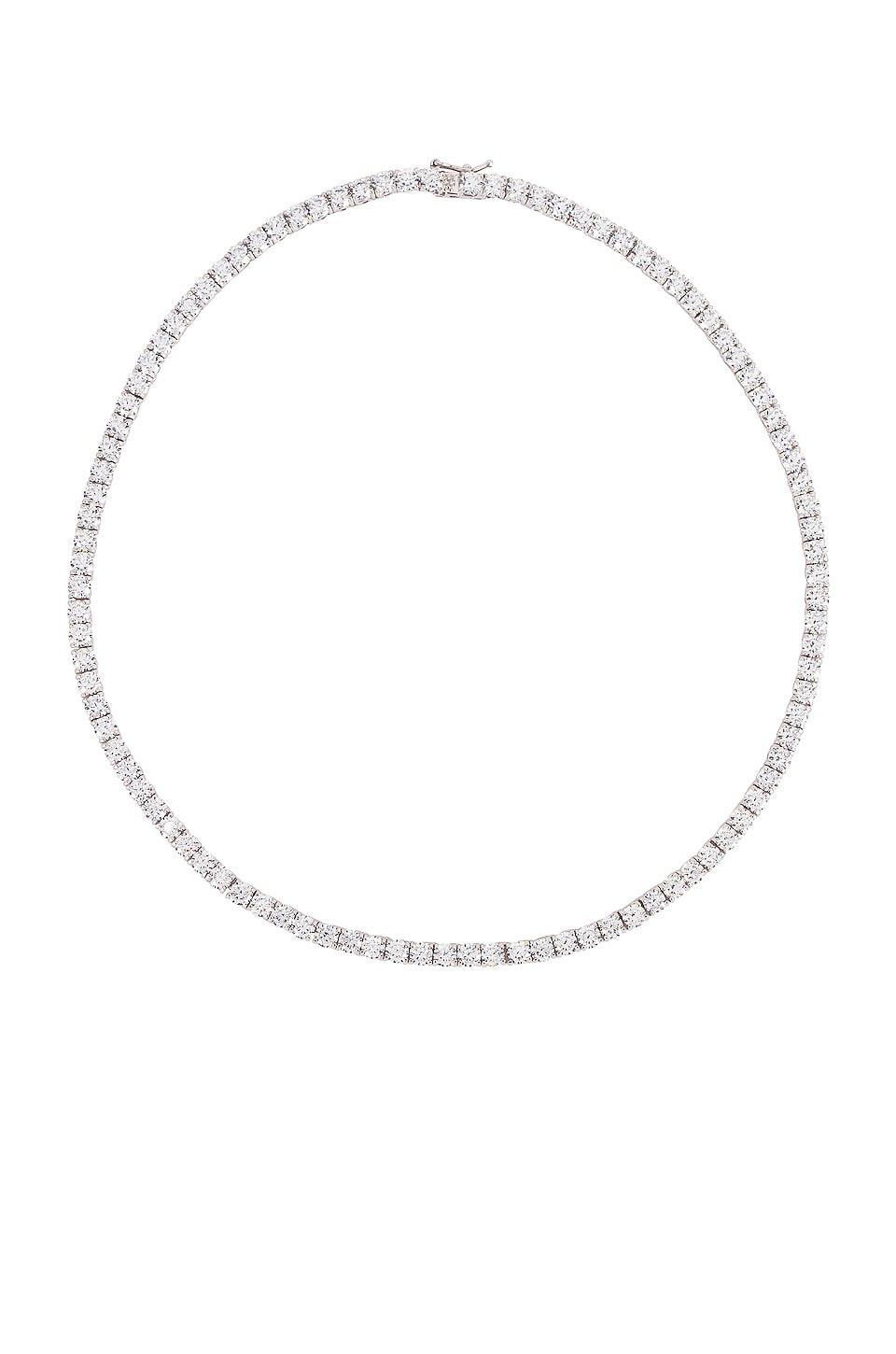 The M Jewelers NY Full Iced Out Necklace in Sterling Silver