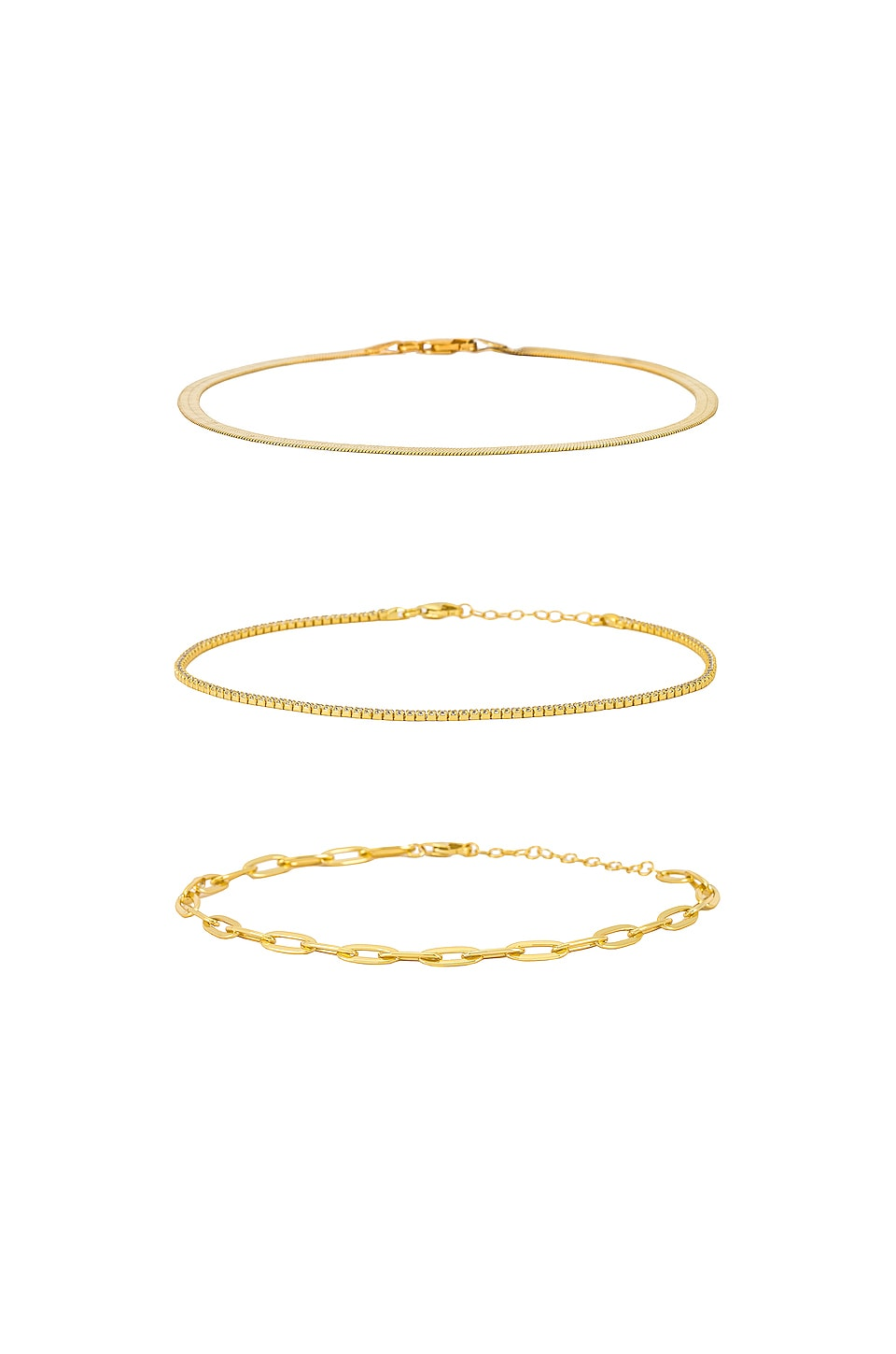 The M Jewelers NY Anklet Set in Gold