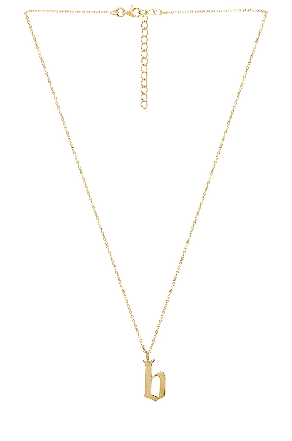 The M Jewelers NY The Old English B Pendant in Gold