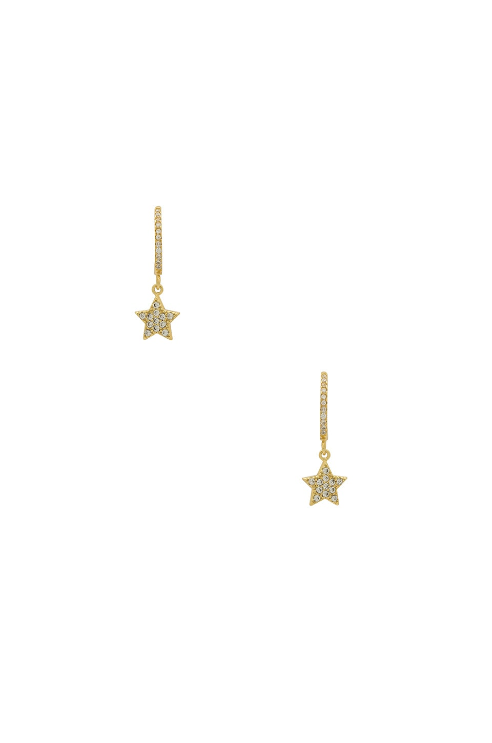 THE M JEWELERS NY HANGING PAVE STAR EARRINGS