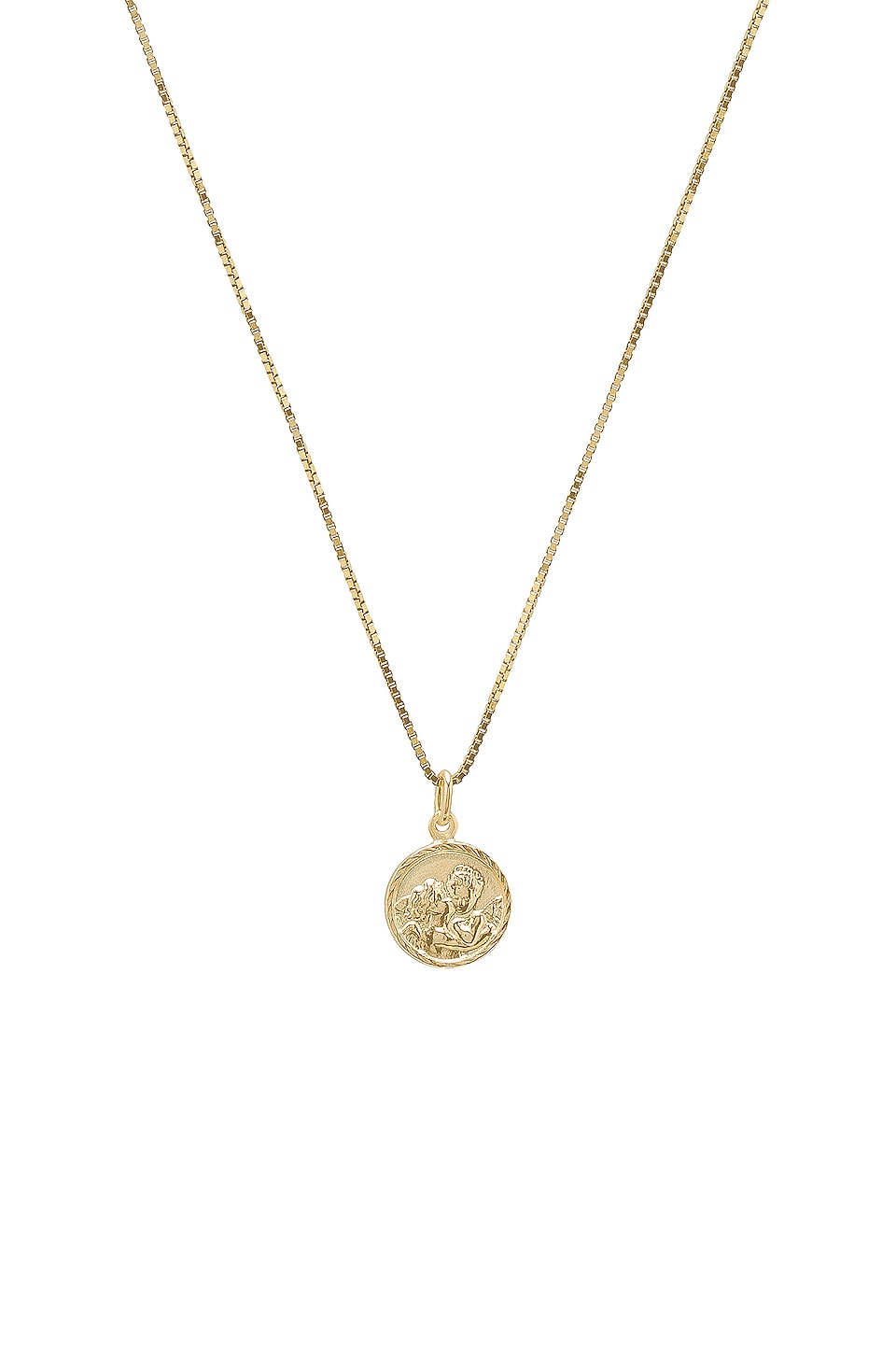 THE M JEWELERS NY Tiny Angel Pendant Necklace in Metallic Gold
