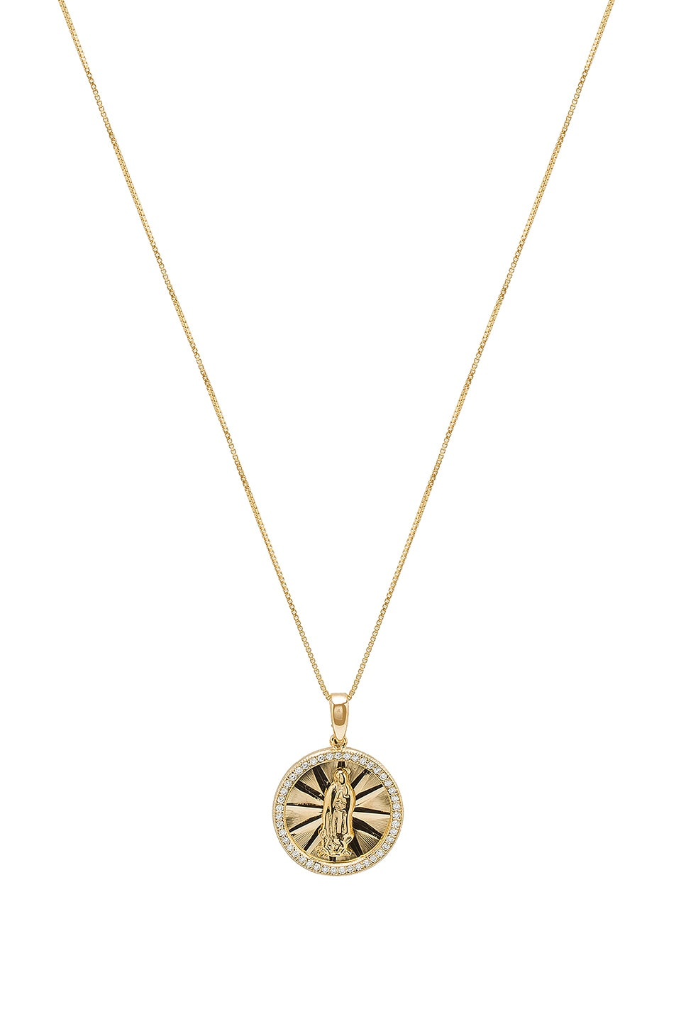 THE M JEWELERS NY THE PAVE CIRCLE GUADALUPE PENDANT NECKLACE