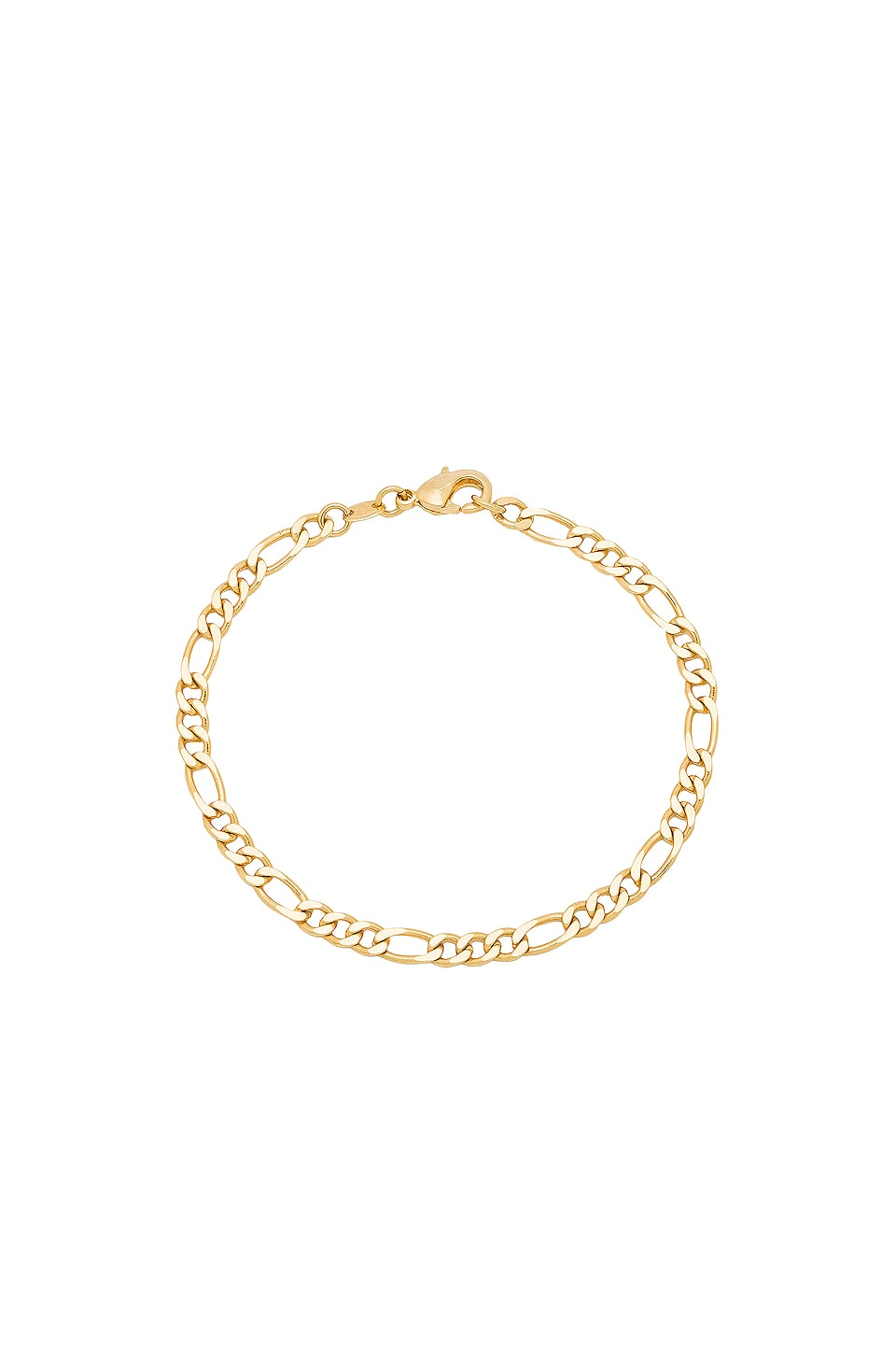 THE M JEWELERS NY The Figaro Link Bracelet in Metallic Gold