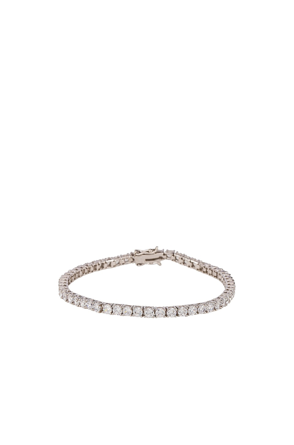 The M Jewelers NY The Pave Tennis Bracelet in Silver