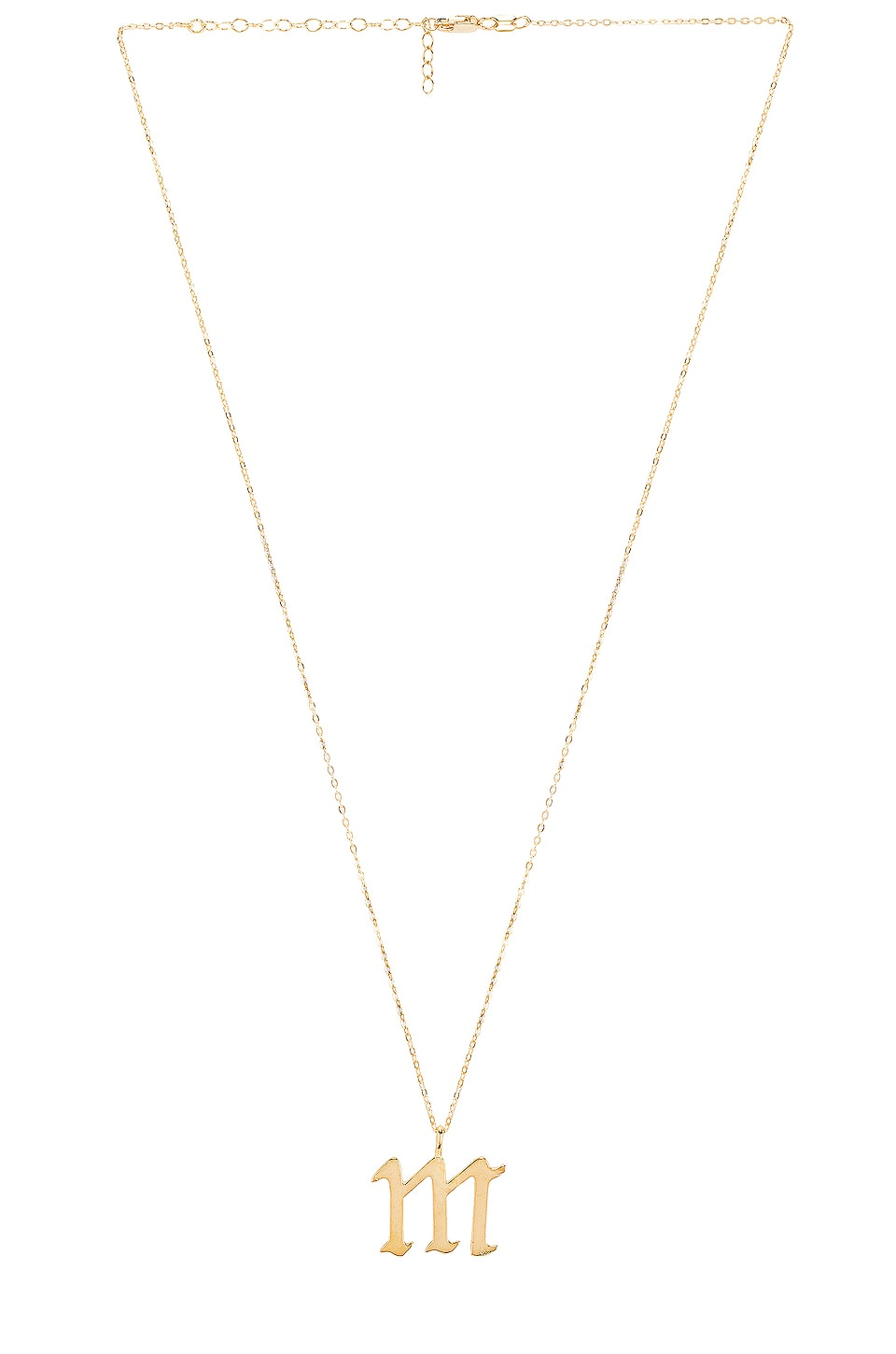 eca276a780656 The M Jewelers NY The Old English M Pendant in Gold   REVOLVE