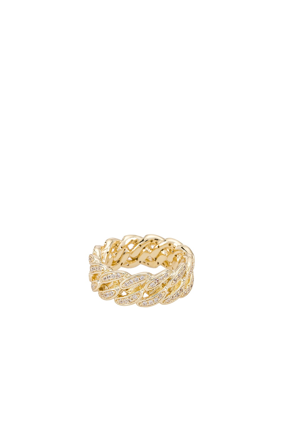 The M Jewelers NY The Iced Cuban Link II Ring in Gold