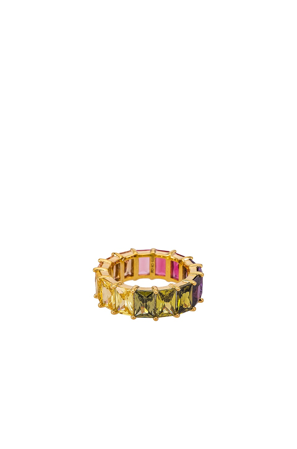 The M Jewelers NY The Rainbow Ring in Gold