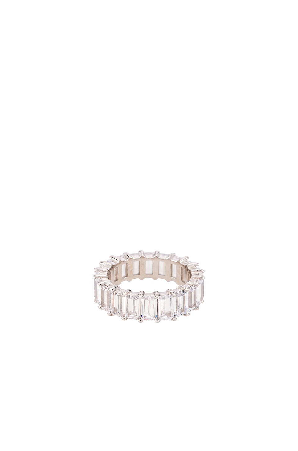 The M Jewelers NY The Emerald Cut Pave Ring in Silver