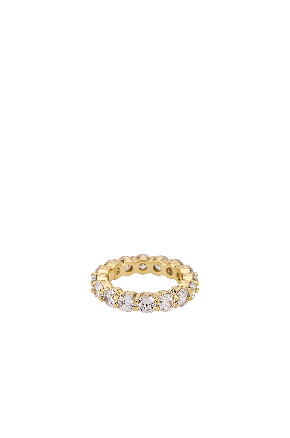 The M Jewelers NY The Round Eternity Band in Gold