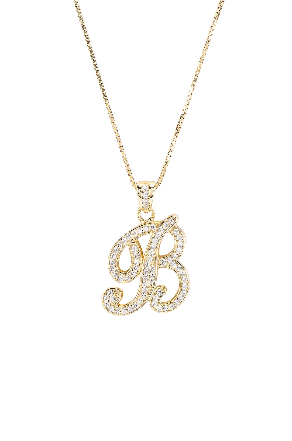 The M Jewelers NY ОЖЕРЕЛЬЕ ICED OUT SCRIPT INITIAL