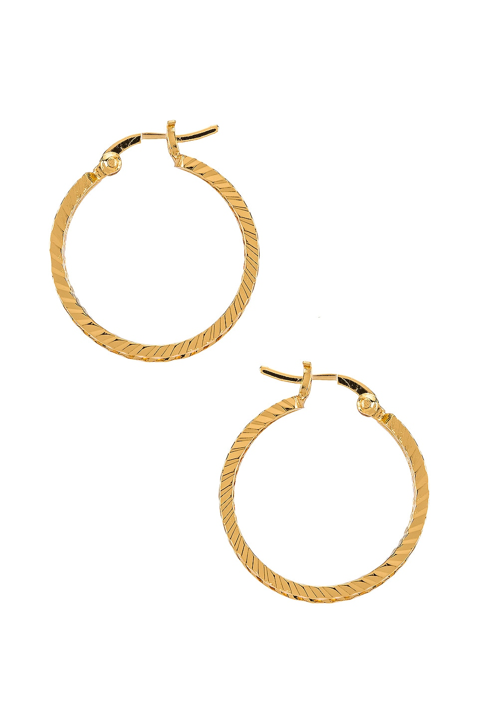 The M Jewelers NY The Rope Hoops in Gold
