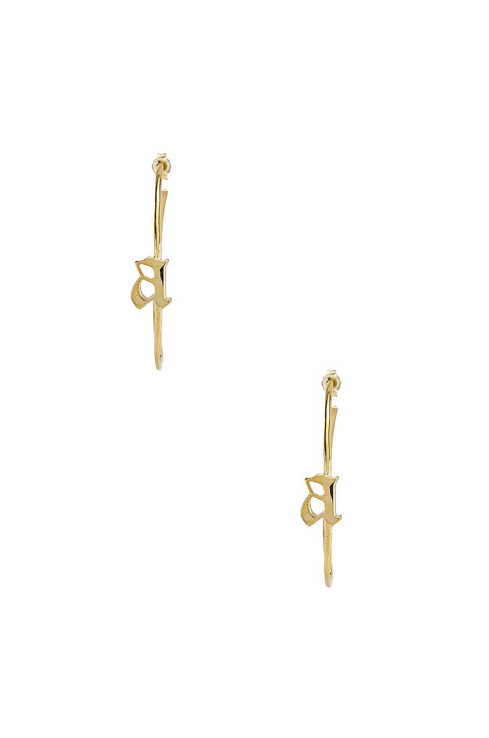 The M Jewelers NY The Split Gothic A Hoops in Gold