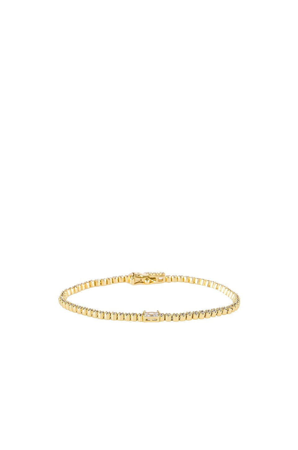 The M Jewelers NY The Colored Stone Tennis Bracelet in White