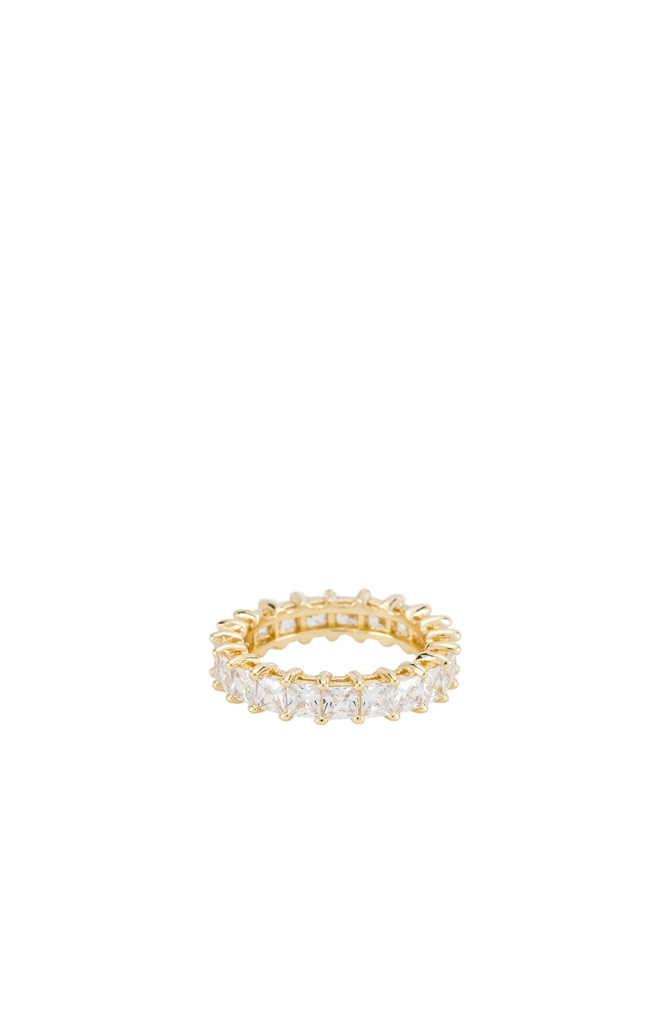 The M Jewelers NY The Princess Cut Eternity Band in Gold