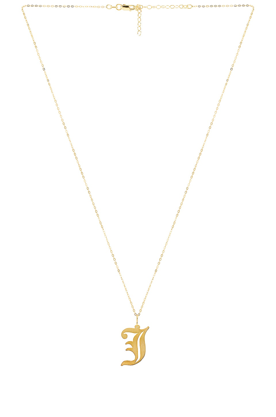 The M Jewelers NY The Old English J Pendant in Gold