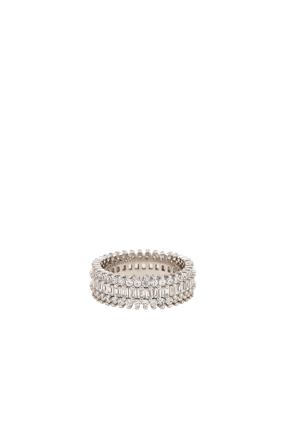 The M Jewelers NY The Three Row Eternity Band in Silver
