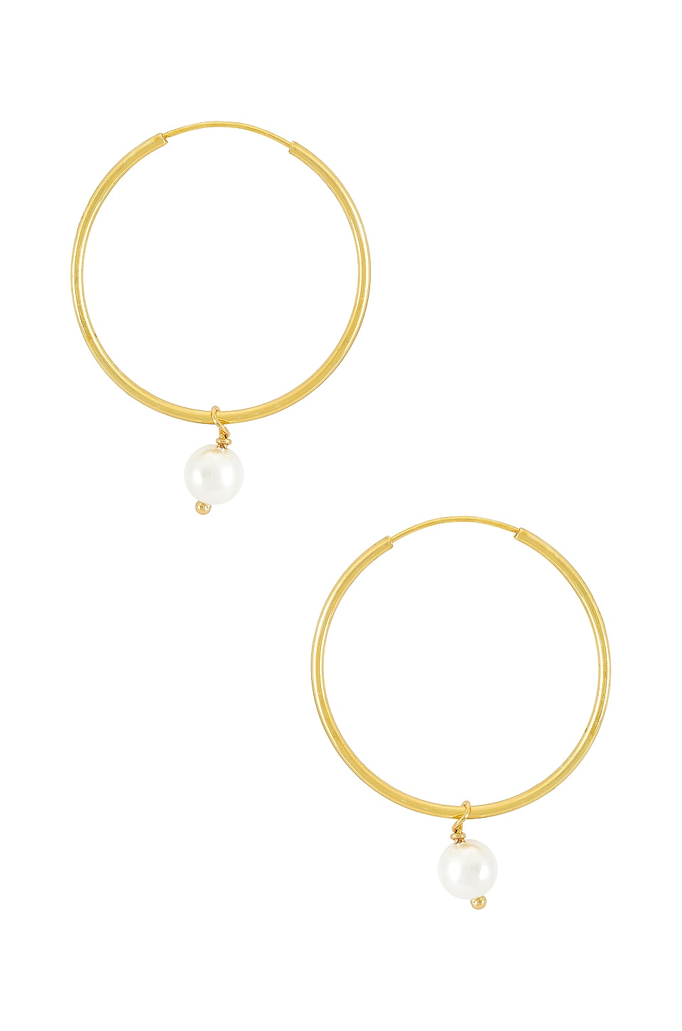 The M Jewelers NY The Hanging Lia Pearl Earrings in Gold