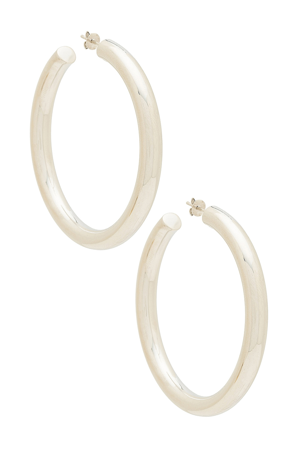 The M Jewelers NY The Thick Hoop Earrings in Silver