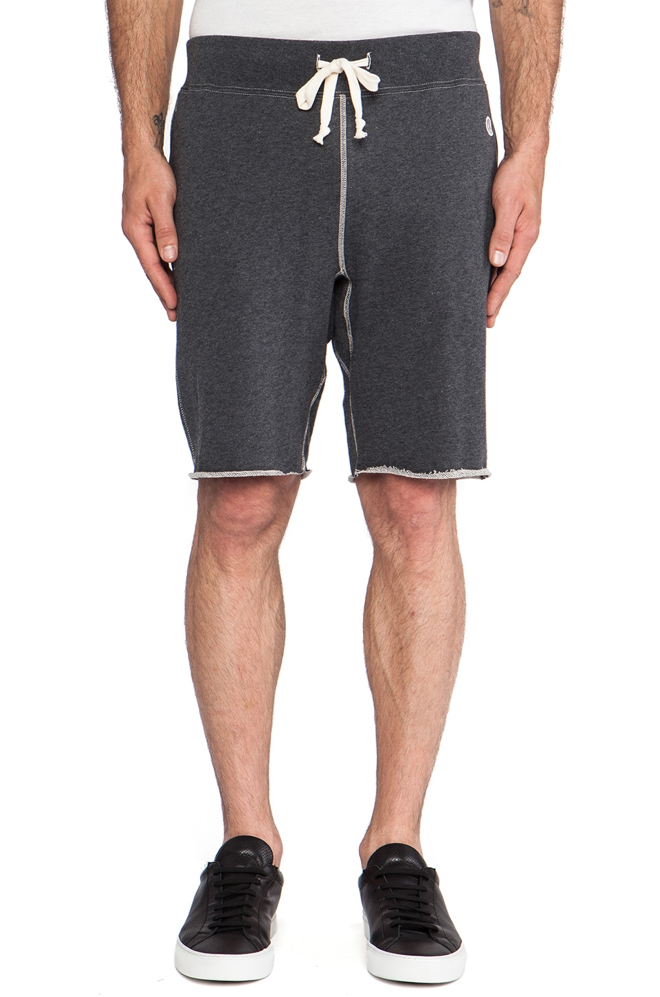 TODD SNYDER + Champion Basic Sweatshort in Charcoal Heather