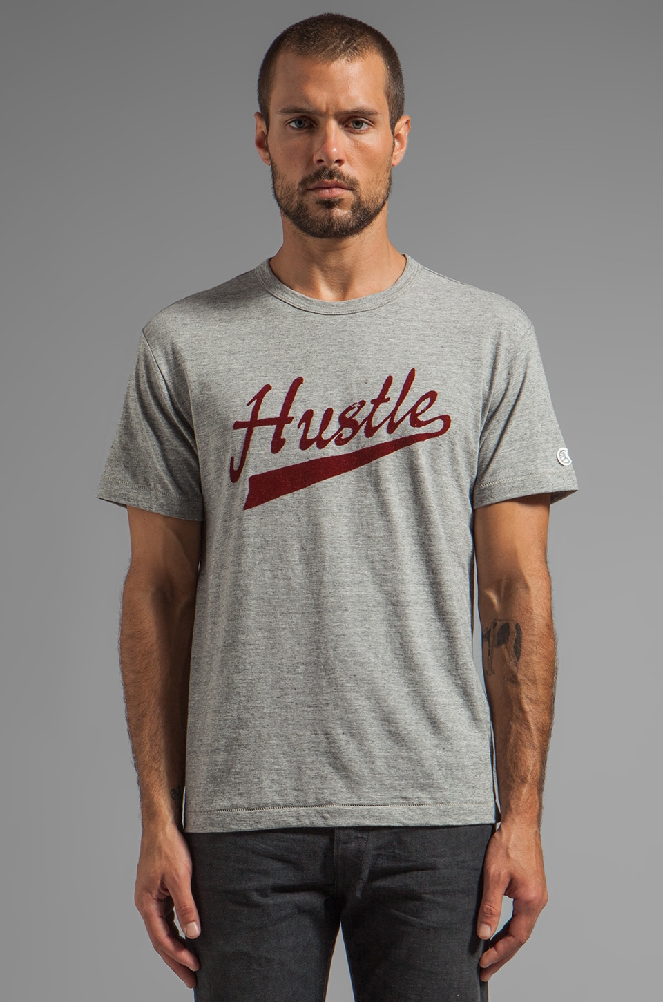 TODD SNYDER + Champion Hustle Tee in Grey Heather