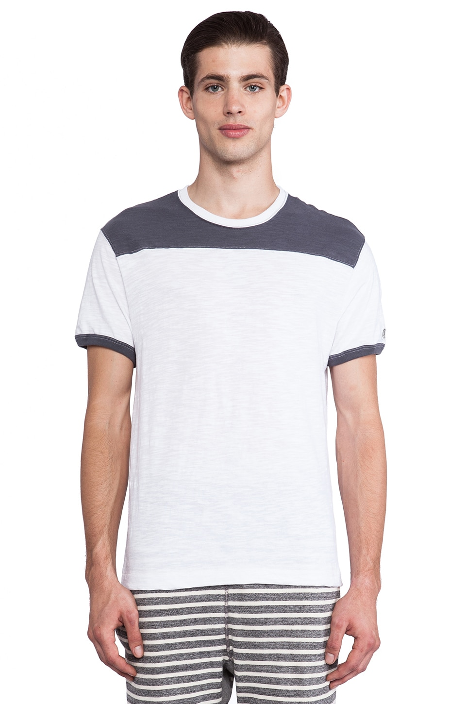 TODD SNYDER + Champion Football Ringer Yoke Tee in White