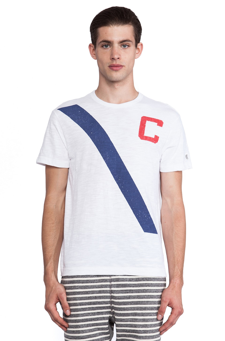 TODD SNYDER + Champion C Slash Graphic Tee in White