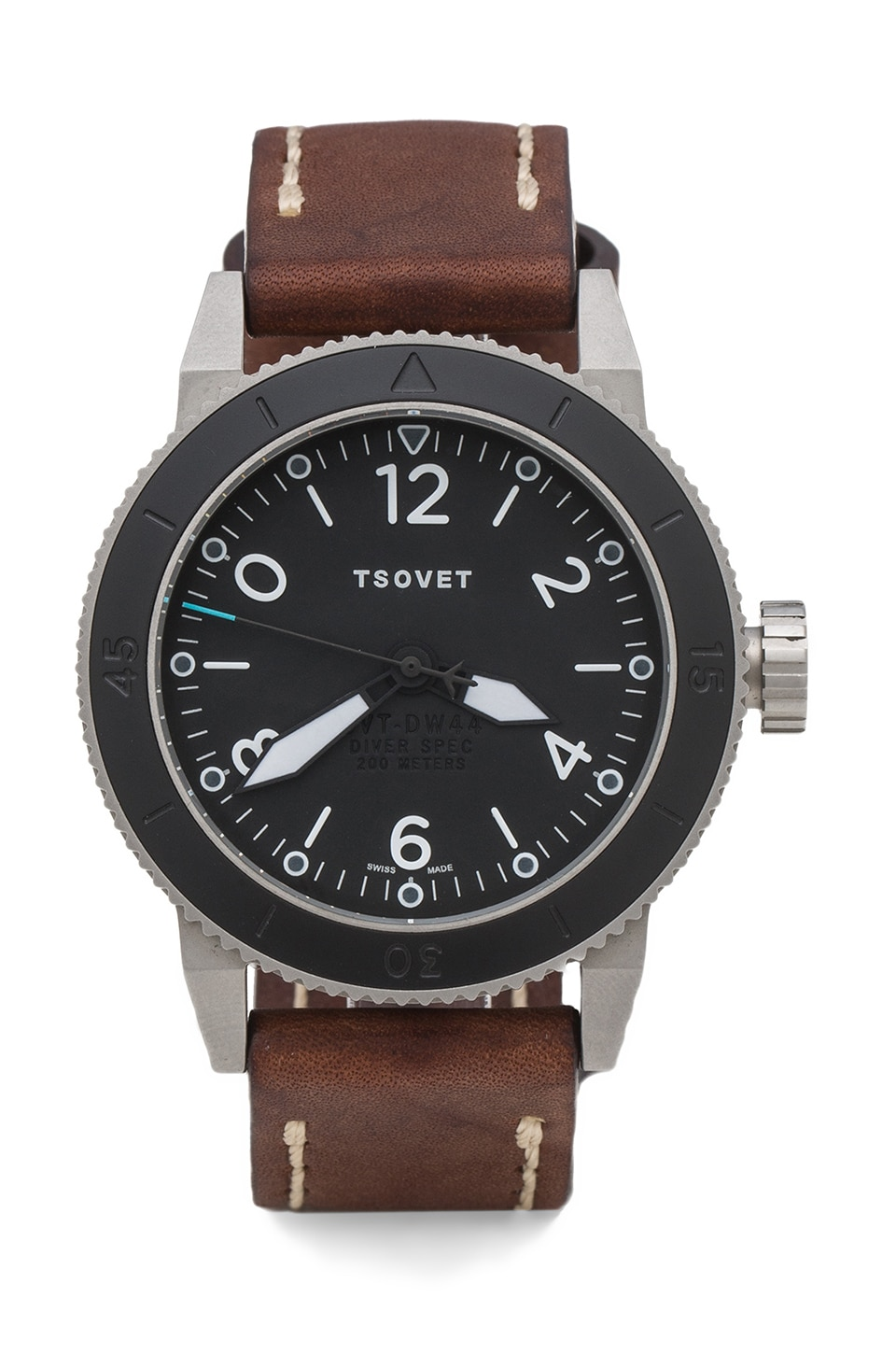 Tsovet x REVOLVE Exclusive SVT-DW44 in Stainless/Black/Dark Brown